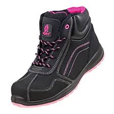 womens safety boots uk lightweight safety boots black pink hiker ankle size