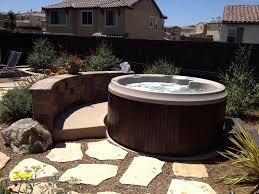 backyard garden with round tub choosing the best round