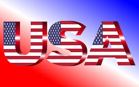 American Flag In Text Clipart Usa Flag Typography Crimson