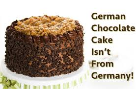 is german chocolate cake from germany