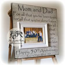50 wedding anniversary gifts 50th anniversary gifts parents anniversary gift for all that you