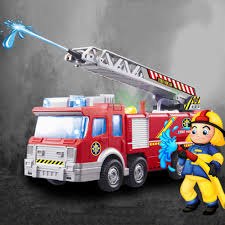 playmobile fireman sam kids toy truck car music led baby