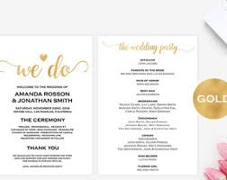 wedding itinerary printable navy wedding wedding favor
