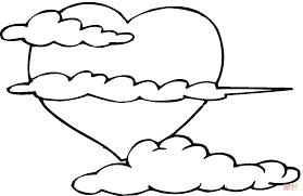 animaux nuage colorier image nuage colorier nuage
