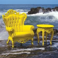 Polart Patio Furniture Family Leisure - Yellow patio furniture