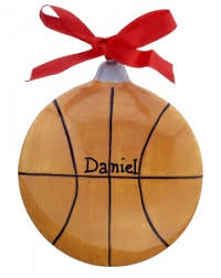 celebrate the march madness with basketball ornaments