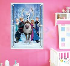 zy1432 fashion avengers captain american 3d movie wall stickers frozen movie wall stickers home decor window wall cartton vinyl wall stickers removable 3d wall decals art of frozen zooyoo1419