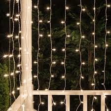 icicle light 65 drop clear incandescent curtain