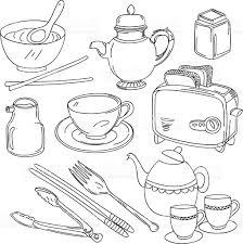 kitchen utensils collection stock vector art 467212486 istock
