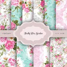 shabby chic flowers valentines vintage shabby chic flowers digital paper pack