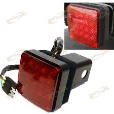 2 led trailer lights 16 led brake light trailer hitch cover fit towing hauling 2 receiver