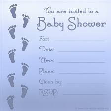 Blank Invitations Color Baby Shower Blank Invitations
