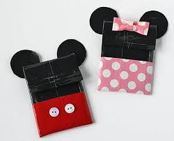 duct mickey minnie gift card holders disney family