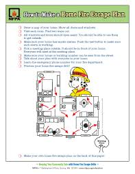 draw a home fire escape plan your kids practice fire drills at