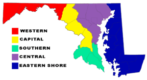 maryland map capital maryland
