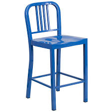 amazon com flash furniture 24 u0027 u0027 high blue metal indoor outdoor
