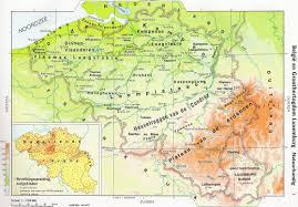 physical map of belgium belgium physical map belgium physical features map belgium