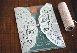 paper for invitations oh what diy a lace doily wedding invitation sleeve oh