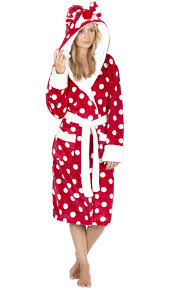 ladies womens animal hooded robe dressing gown winter warm