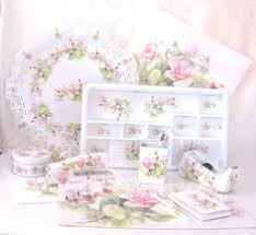 an array of gorgeous office supplies from s garden Floral Desk Accessories