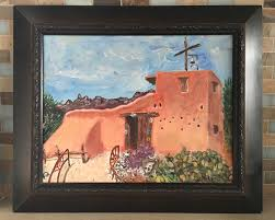 details about original oil painting signed southwest hacienda