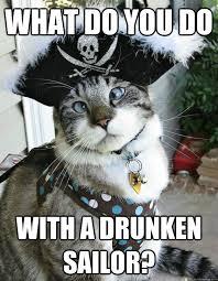 Drunken Memes - what do you do with a drunken sailor drunk pirate kitty quickmeme