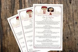 hindu wedding program indian wedding program invitation card ideas frugal2fab