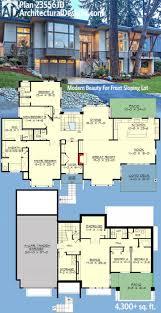 modern hillside house plans home design hillside house plans for slopings and small lake front