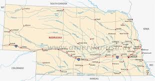 Nebraska State Map Nebraska Cornhusker State Usa