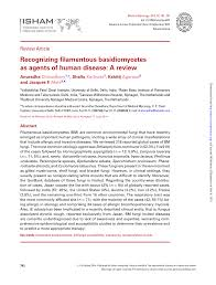 b b mycose si ge recognizing filamentous basidiomycetes as pdf available
