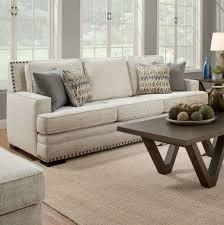 albany symbio cream sofa with nailhead trim 488 savvy discount
