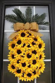 sunflower wreath 50 best pineapple sunflower wreath decoratio co