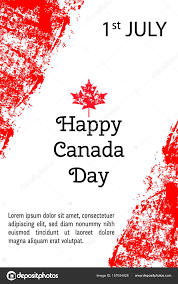 National Flag Of Canada Day Vector Illustration Canada Day Canadian Flag In Trendy Grunge