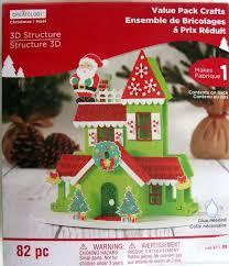 amazon com christmas 3d structure house craft fun foam ornaments