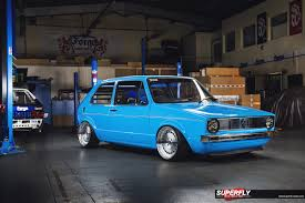 volkswagen custom forge motorsports volkswagen mk1 golf u2026blue thunder superfly autos