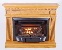 Btu Gas Fireplace - the carlton dual fuel gas fireplace with oak mantel 23 000 btu