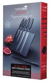 kitchencraft masterclass agudo non stick stainless steel knife set