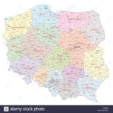 Map Poland Poland Administrative Map Stock Vector Art U0026 Illustration Vector