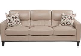 Rooms To Go Sofa Beds Prospect Park Sand Leather Sofa Leather Sofas Beige