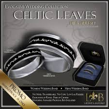 his and hers wedding bands sets second marketplace wedding ring set his hers celtic