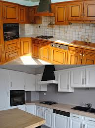 retaper armoire de cuisine rénover une cuisine rustique peinture glycéro les ées 80 et