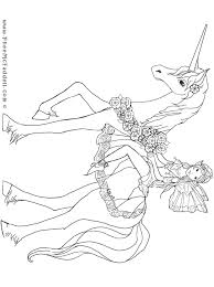 coloring pages of unicorns and fairies unicorn and fairy puppet coloring page
