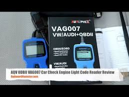 car check engine light code reader aqv odbii vag007 car check engine light code reader review youtube
