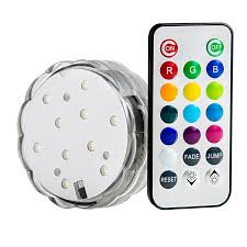 submersible rgb led accent light w remote novelty lighting