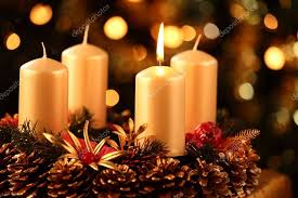 advent wreath candles advent wreath with one candle lit stock photo mkucova 28637009