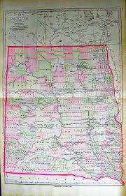 Map South Dakota Prints Old U0026 Rare South Dakota Page