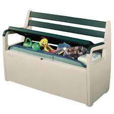 Keter Plastic Keter Plastic Deck Patio Bench Large Garden Storage Seat Outdoor