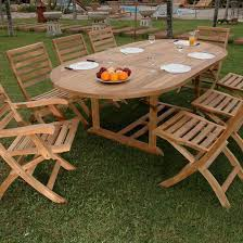 Folding Outdoor Table And Chairs Anderson Teak Bahama Andrew 8 Person Teak Patio Dining Set With