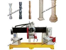 Stone Banister China Stone Lathe Cutting Machine To Cut Column Balustrade