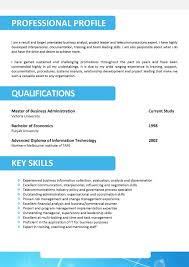 Job Resume Key Skills by Free Resume Templates Professional Profile Template Example Of A